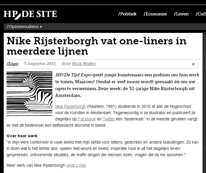 HP/De Tijd, online expositie, 2013